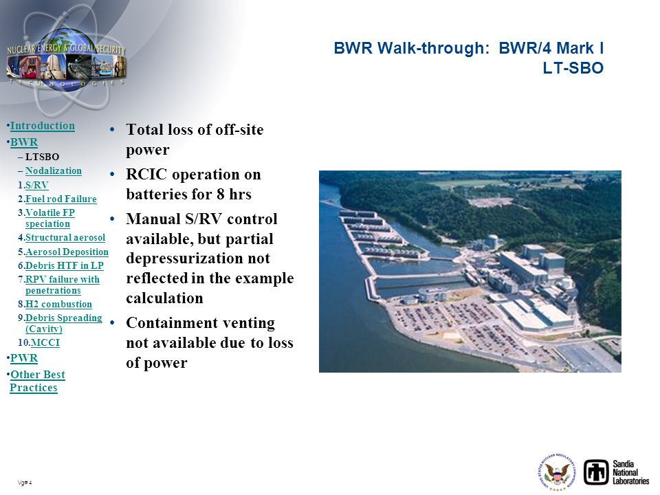 BWR Walk-through: BWR/4 Mark I LT-SBO