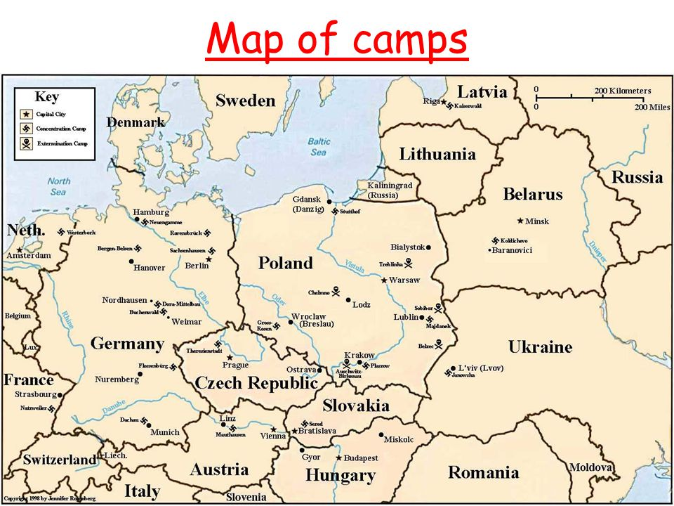 Map of camps