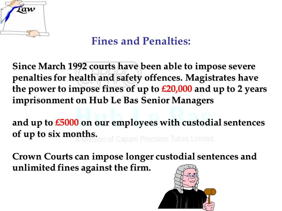 Fines and Penalties: