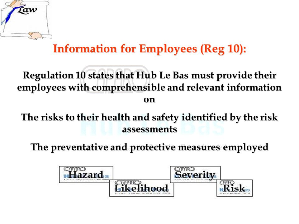 Information for Employees (Reg 10):