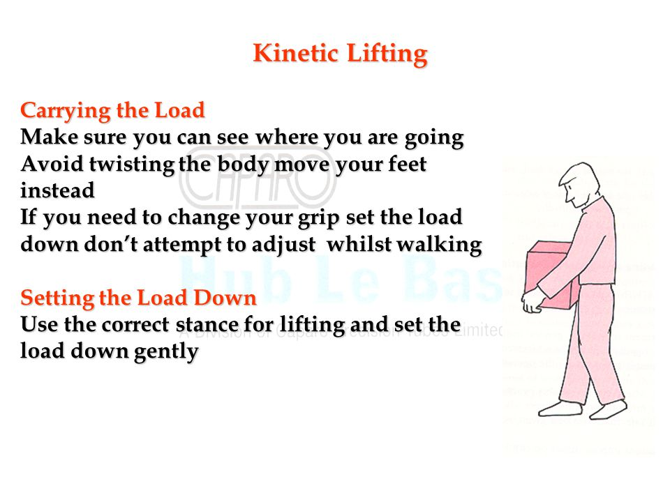 Kinetic Lifting Carrying the Load