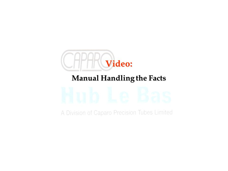 Manual Handling the Facts