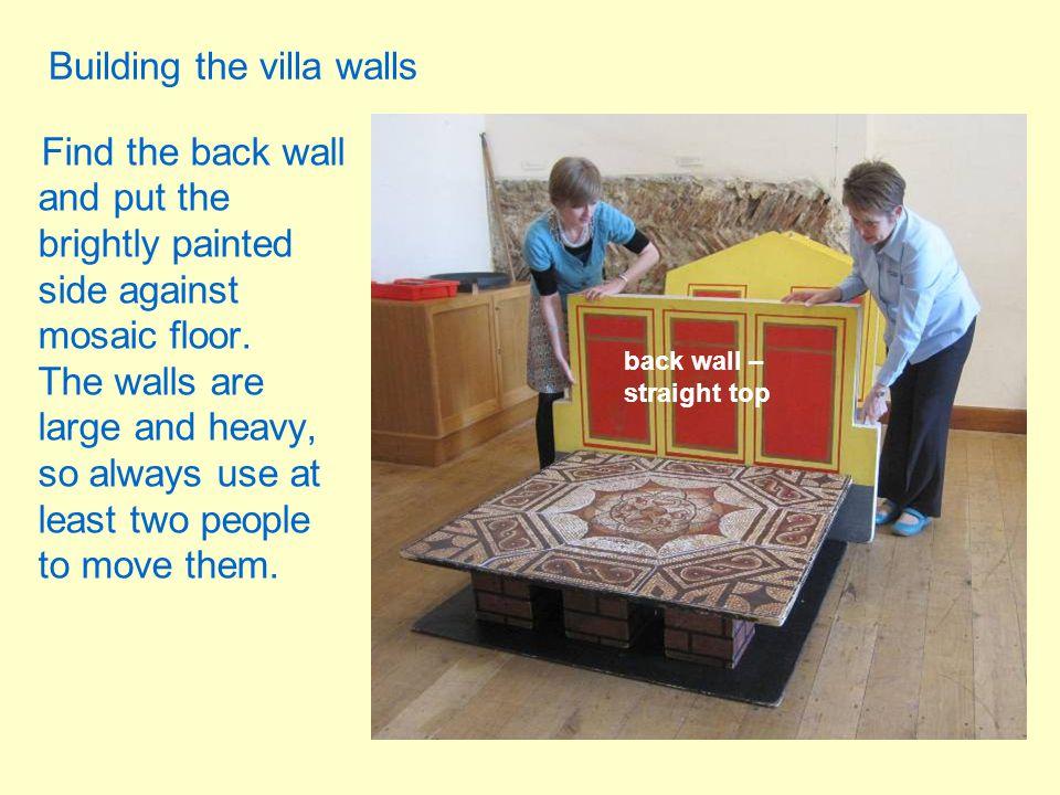 Building the villa walls