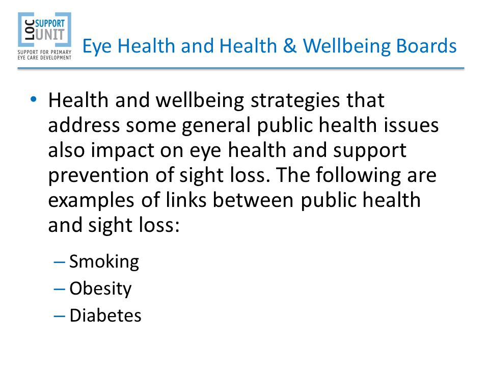 Eye Health and Health & Wellbeing Boards