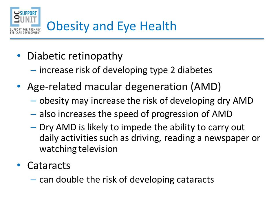 Obesity and Eye Health Diabetic retinopathy
