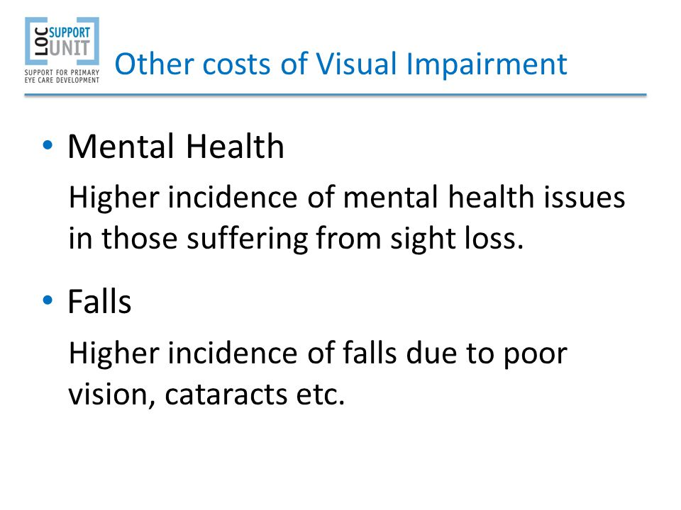Other costs of Visual Impairment