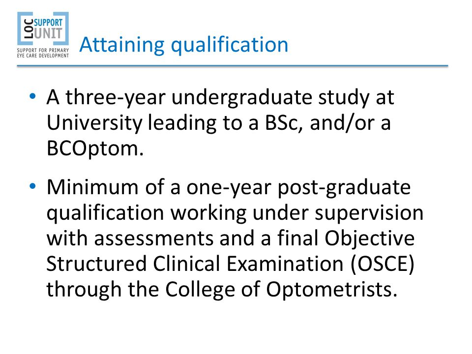 Attaining qualification