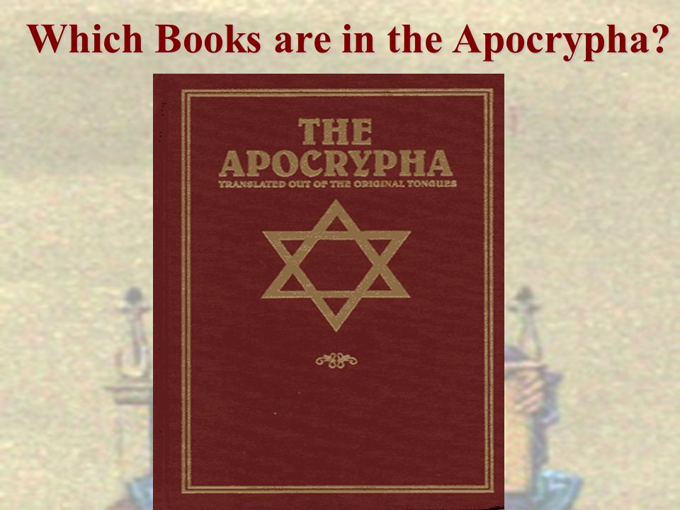 Which Books are in the Apocrypha