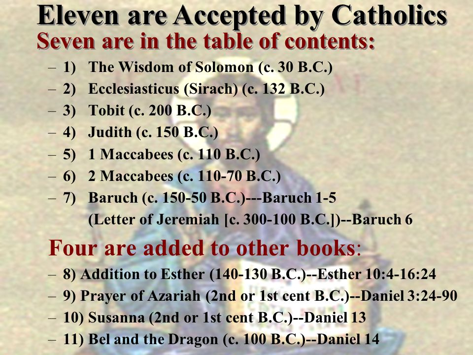 Eleven are Accepted by Catholics