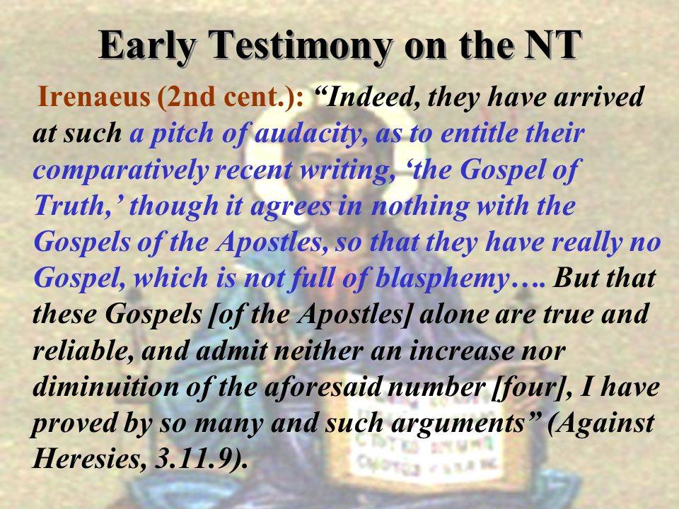Early Testimony on the NT