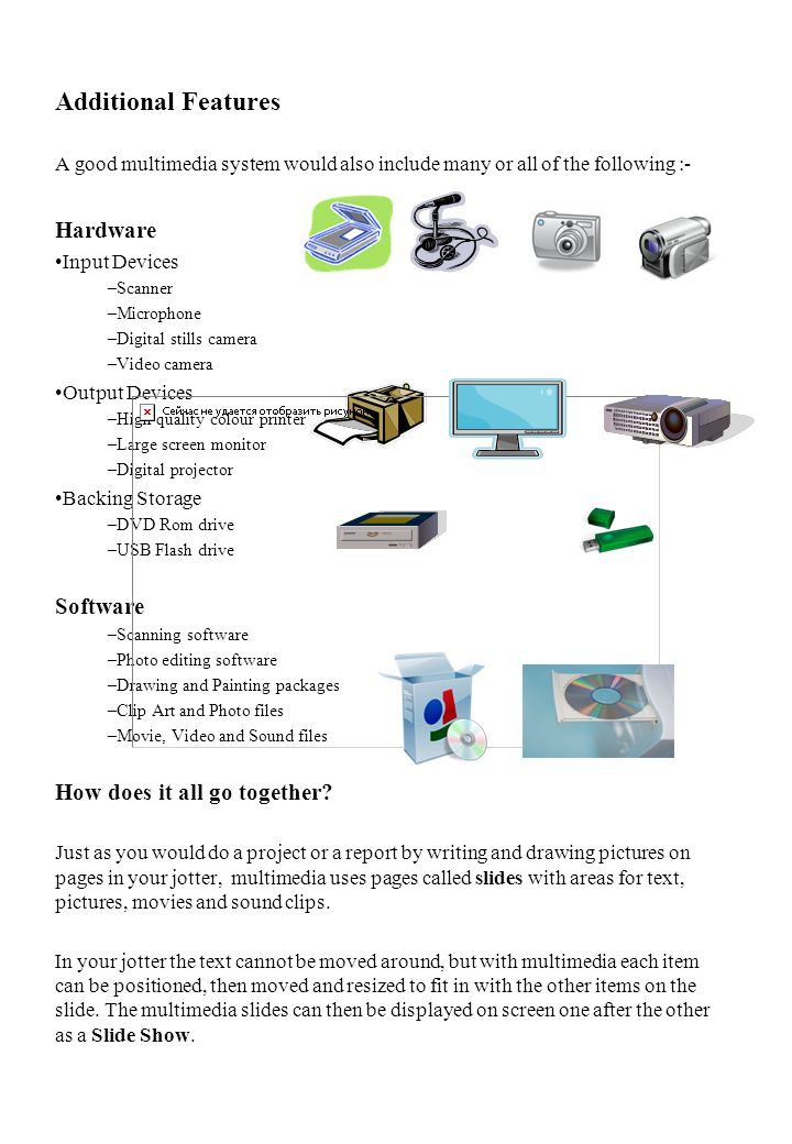 Additional Features Hardware Software How does it all go together