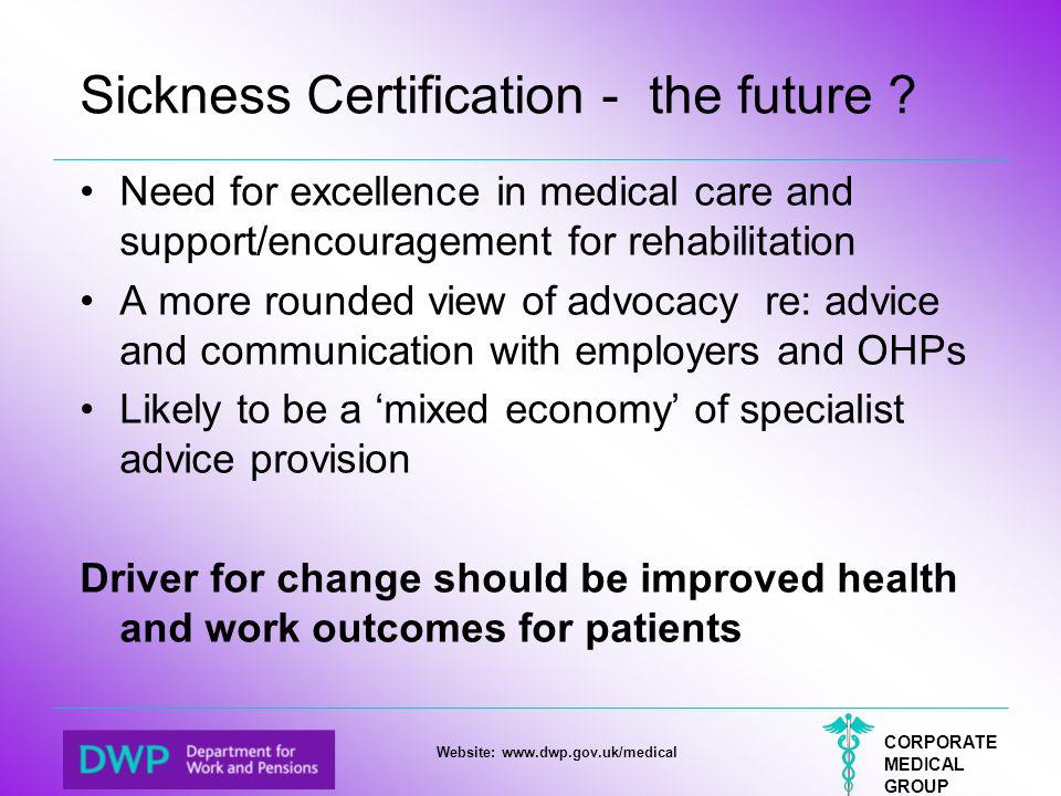 Sickness Certification - the future
