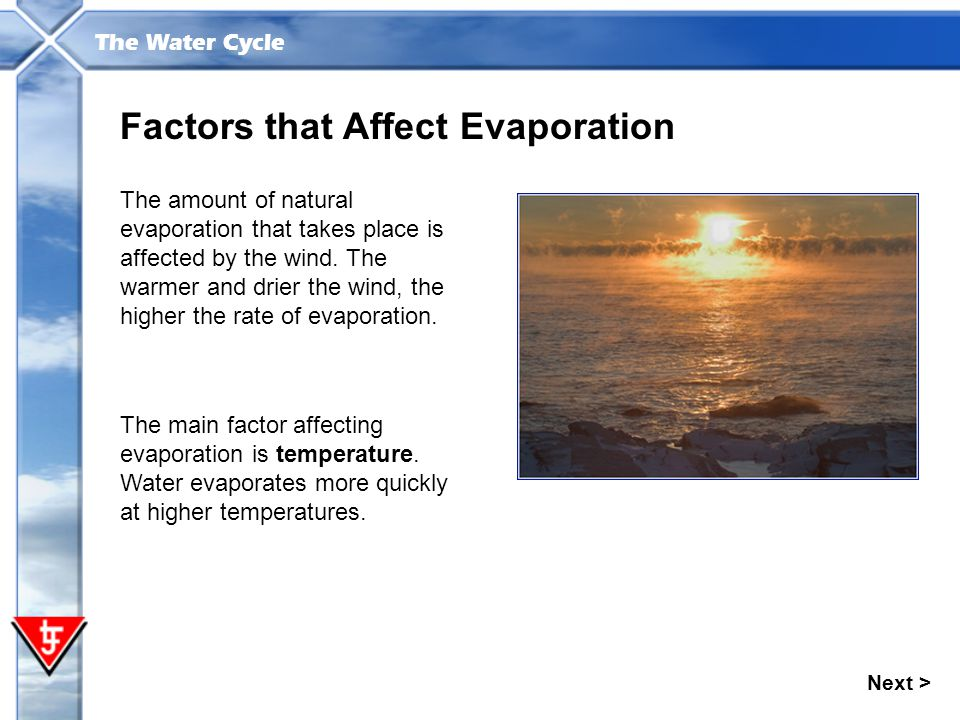 Factors that Affect Evaporation