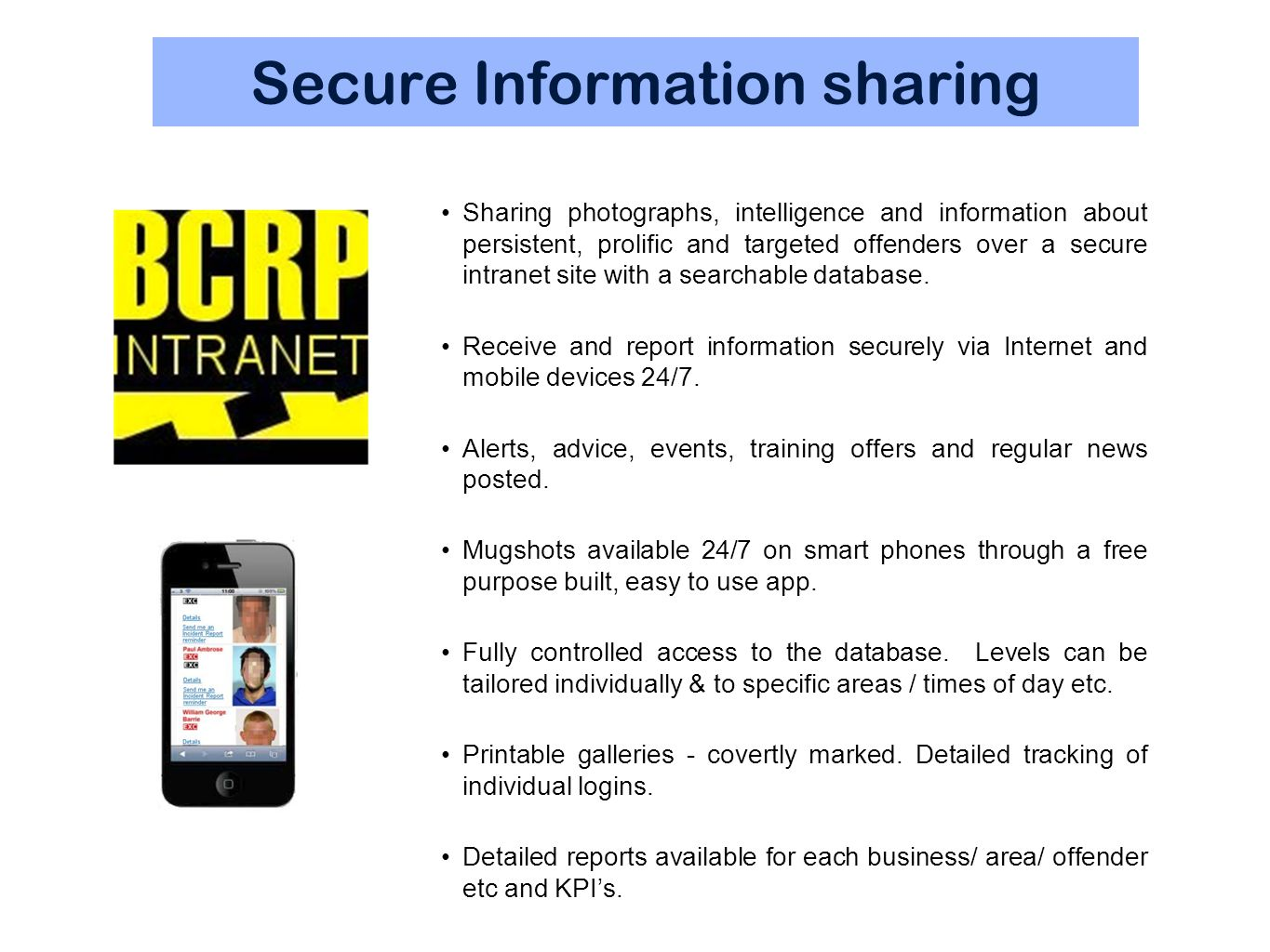 Secure Information sharing