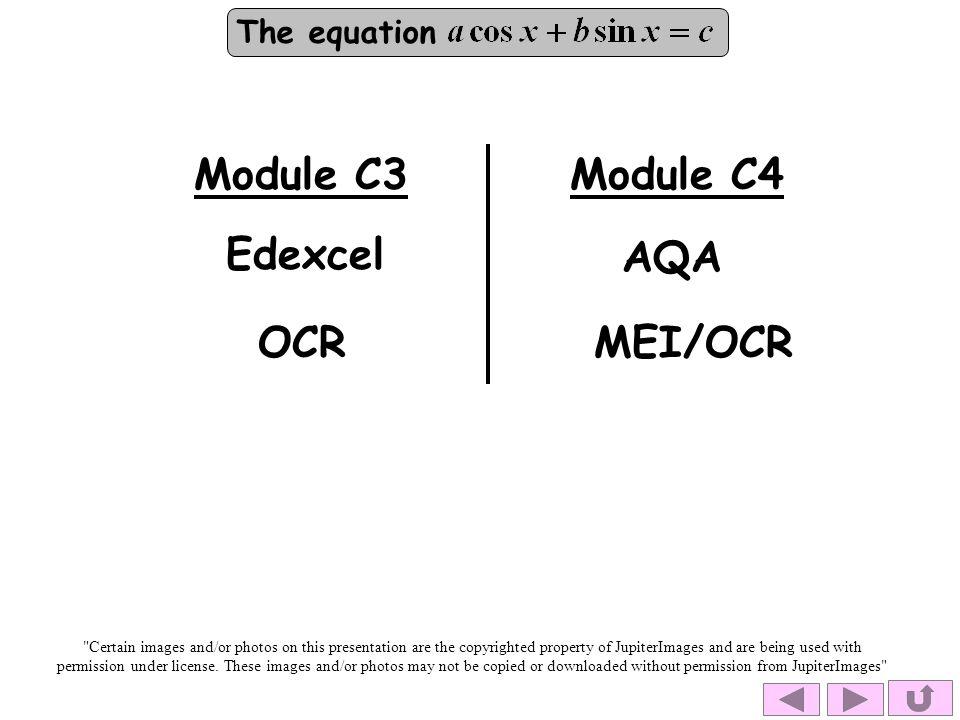 Module C3 Module C4 Edexcel AQA OCR MEI/OCR