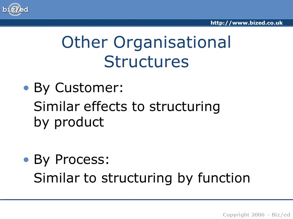 Other Organisational Structures