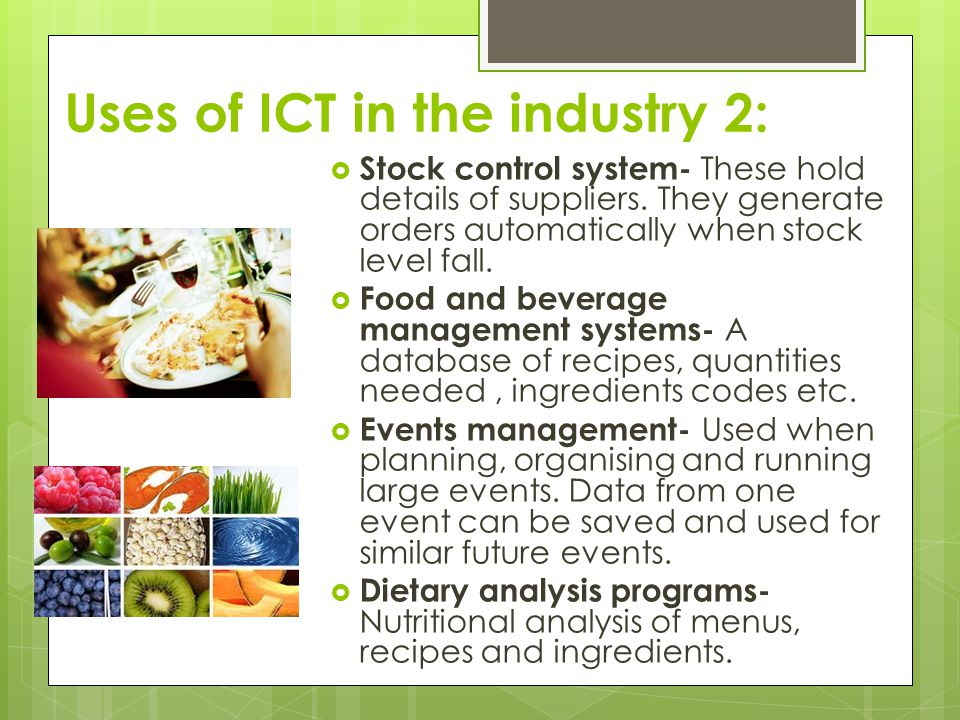 Uses of ICT in the industry 2: