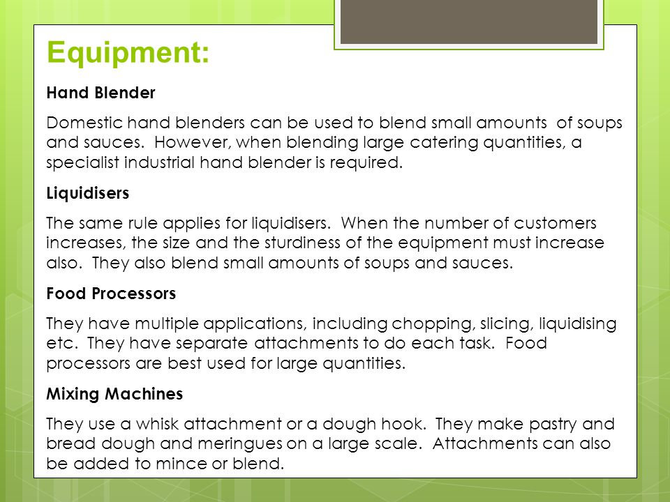 Equipment: Hand Blender