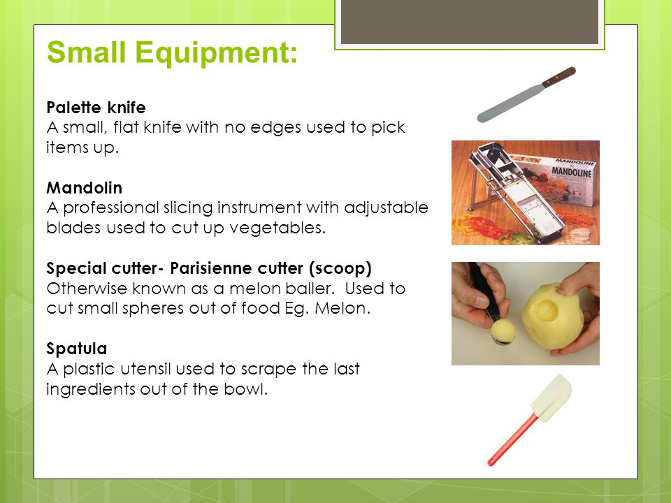 Small Equipment: Palette knife