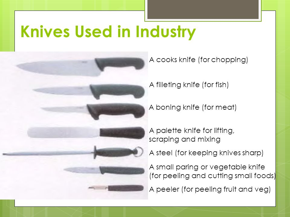 Knives Used in Industry