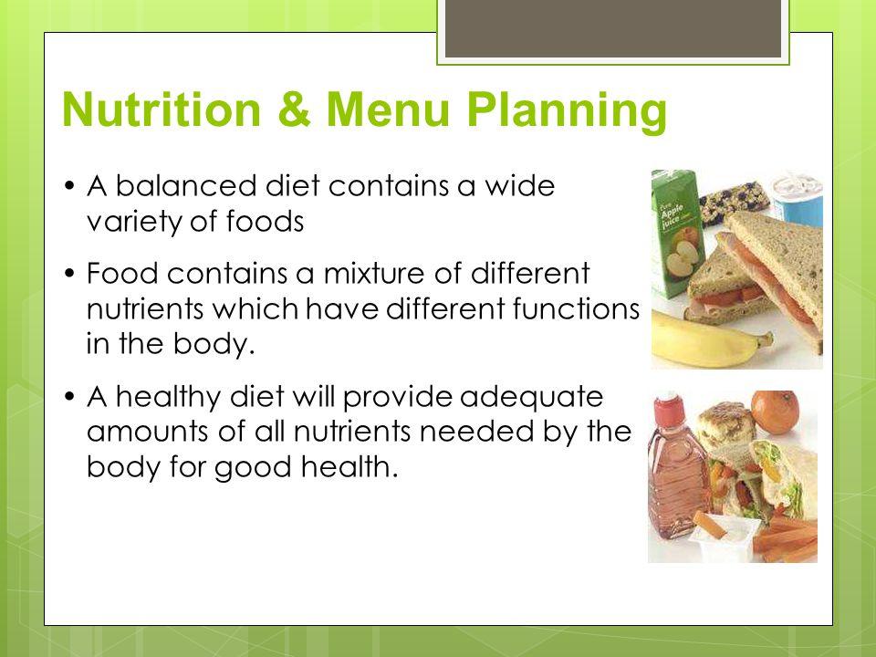 Nutrition & Menu Planning