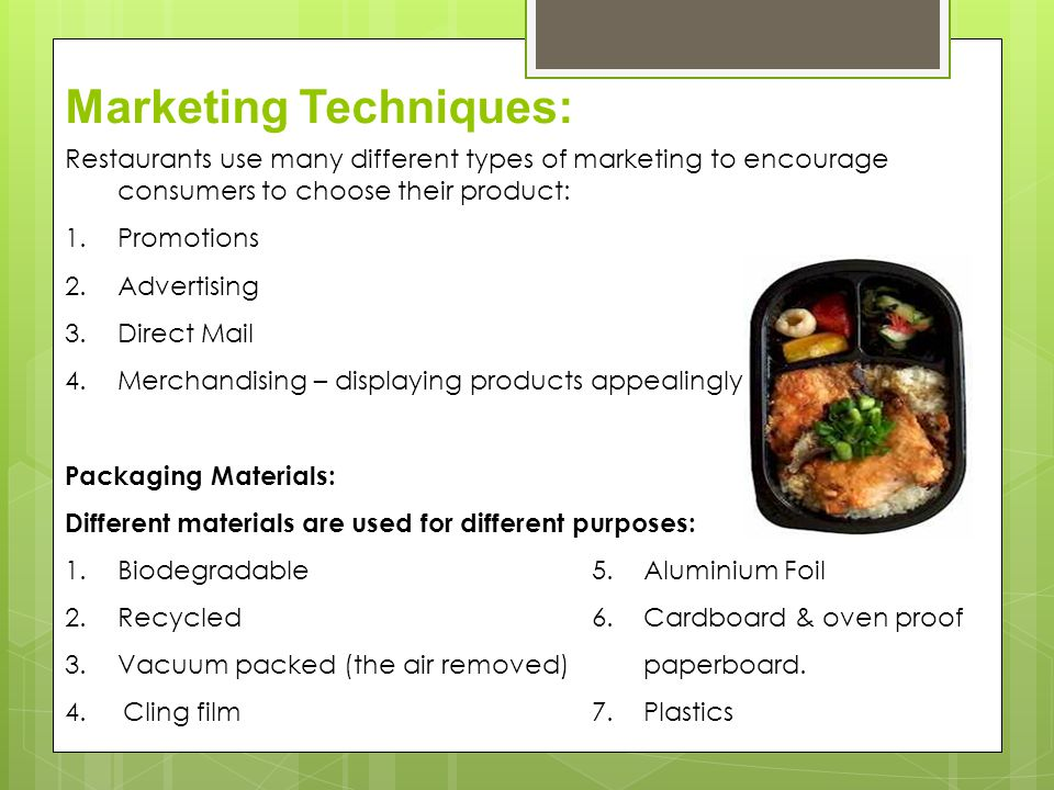 Marketing Techniques: