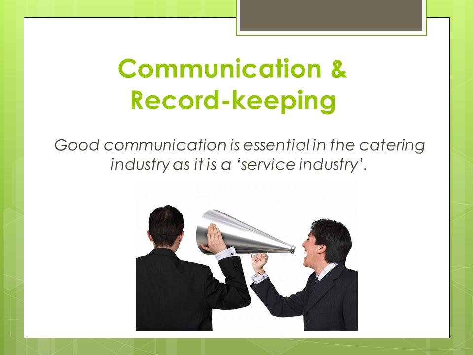 Communication & Record-keeping