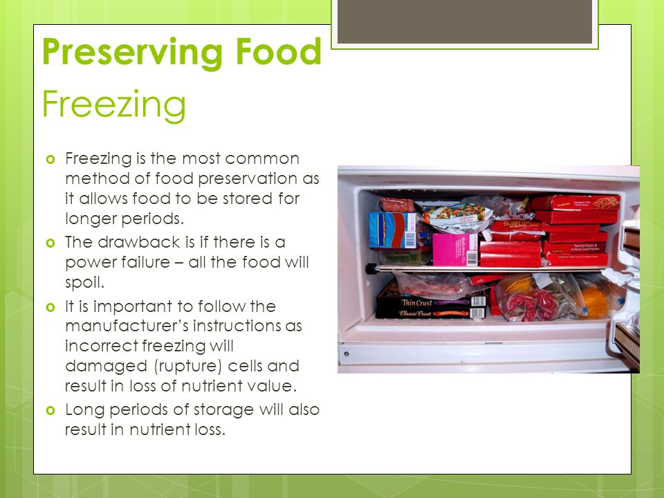 Preserving Food Freezing