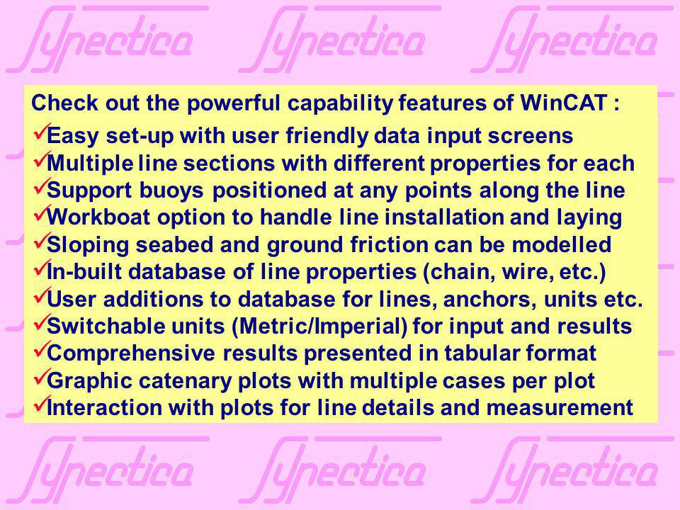 Check out the powerful capability features of WinCAT :