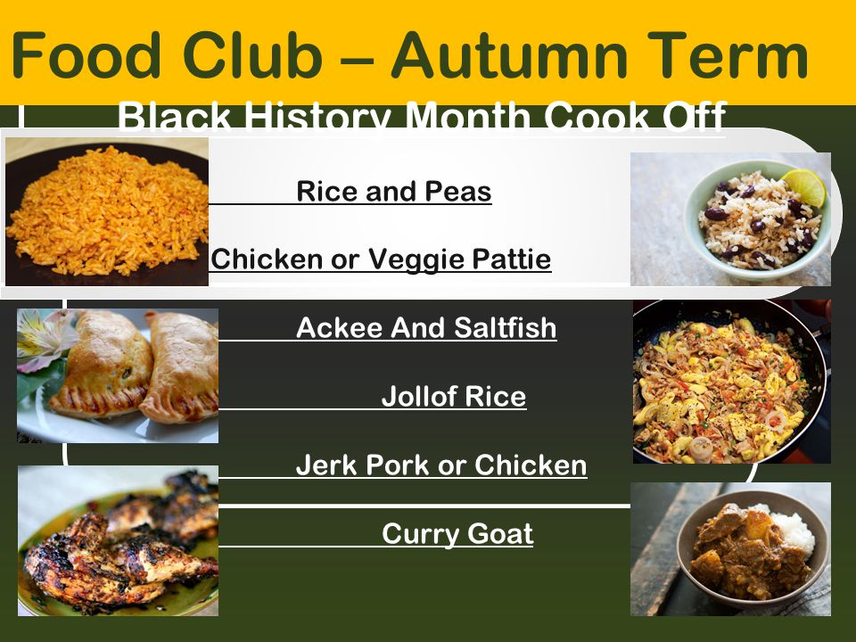 Black History Month Cook Off