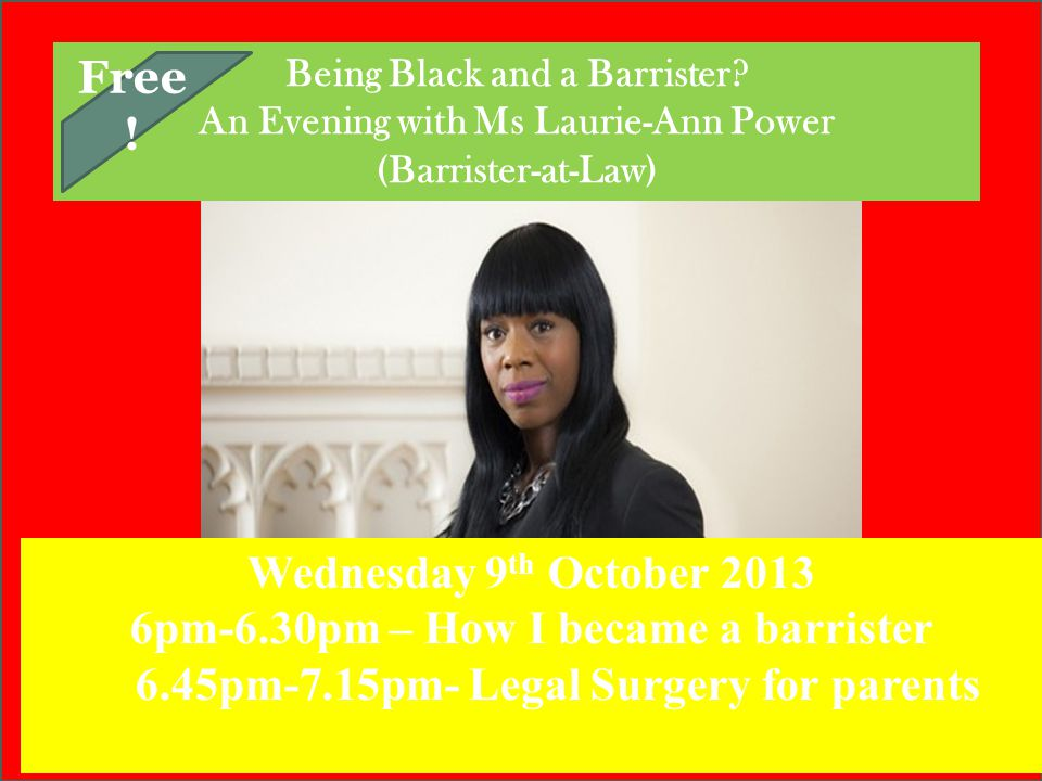 6pm-6.30pm – How I became a barrister