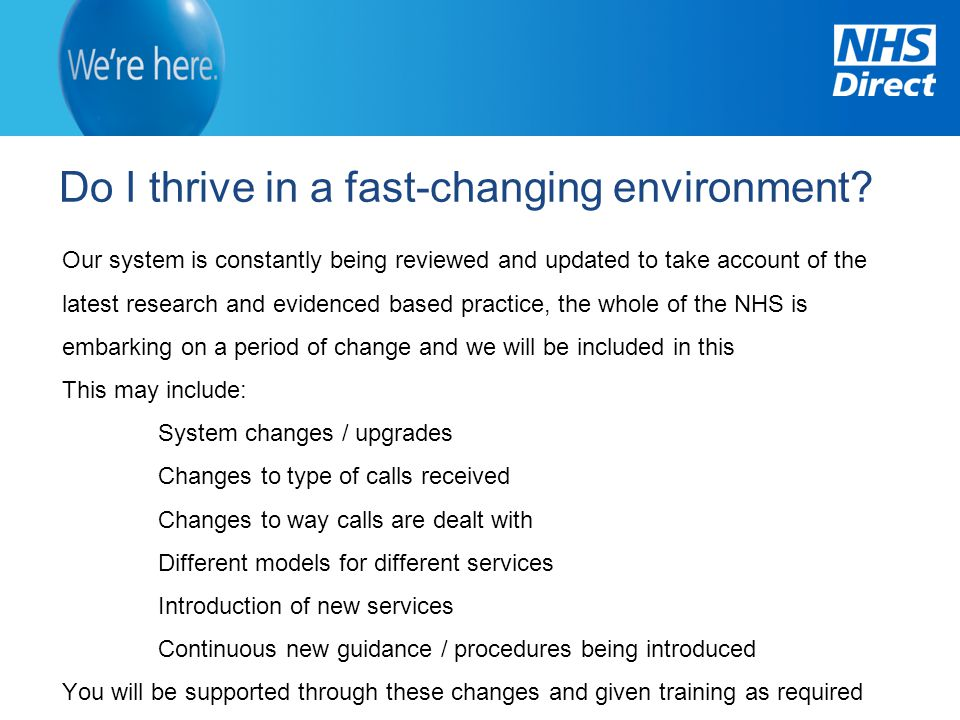 Do I thrive in a fast-changing environment
