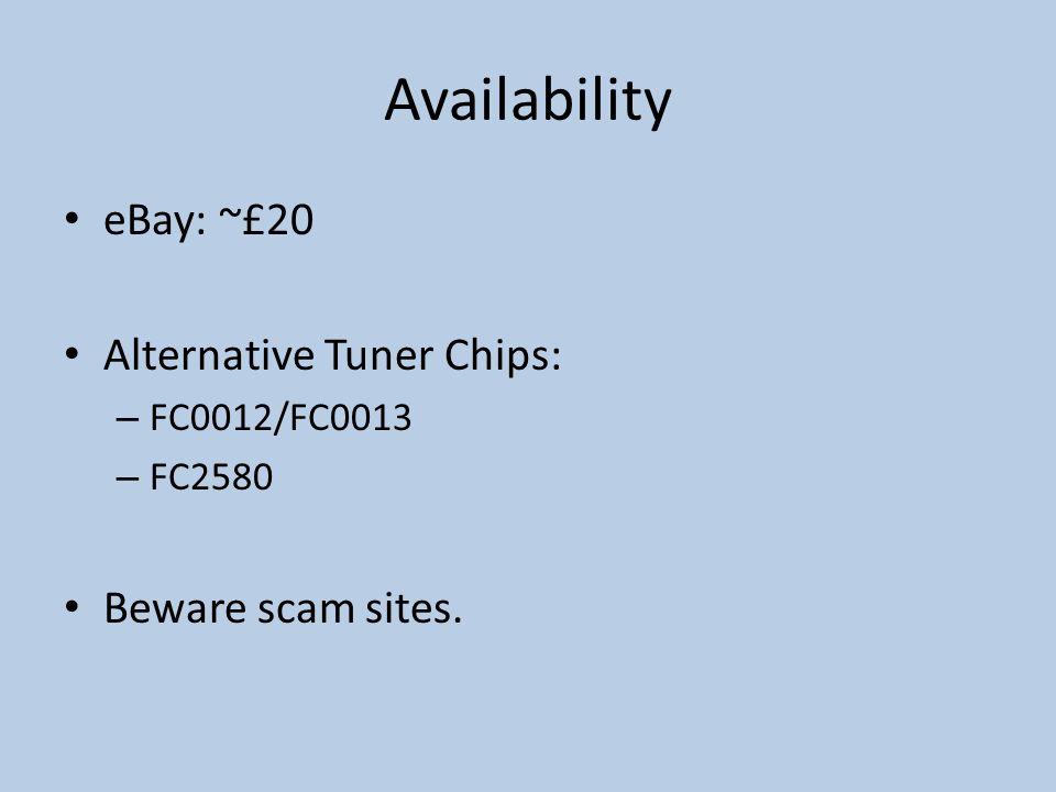 Availability eBay: ~£20 Alternative Tuner Chips: Beware scam sites.