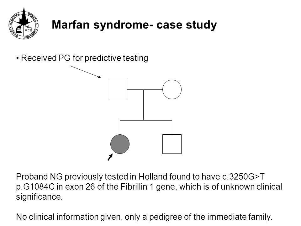 Marfan syndrome- case study