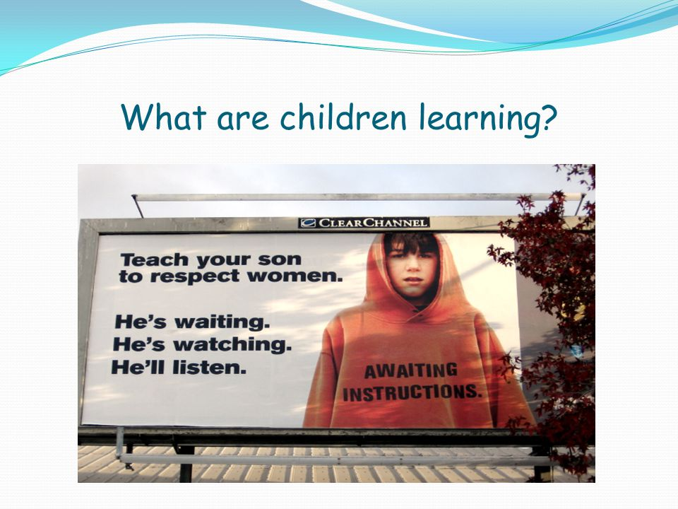 What are children learning