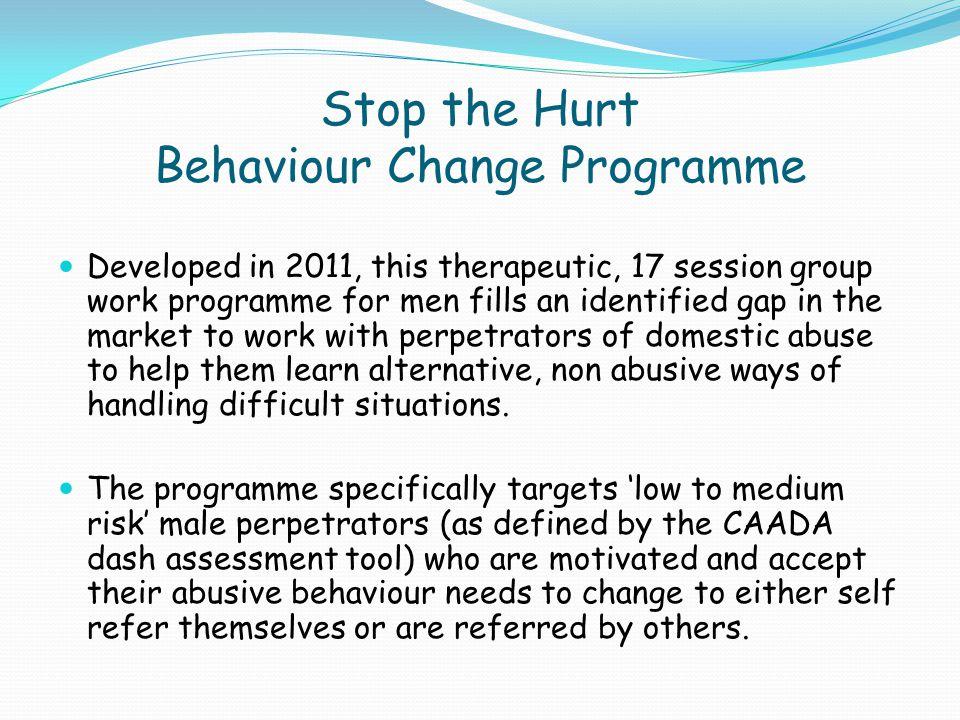 Stop the Hurt Behaviour Change Programme
