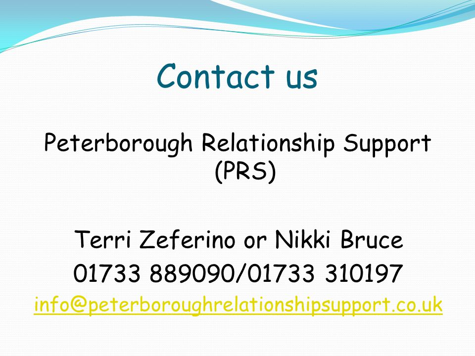 Contact us Peterborough Relationship Support (PRS)