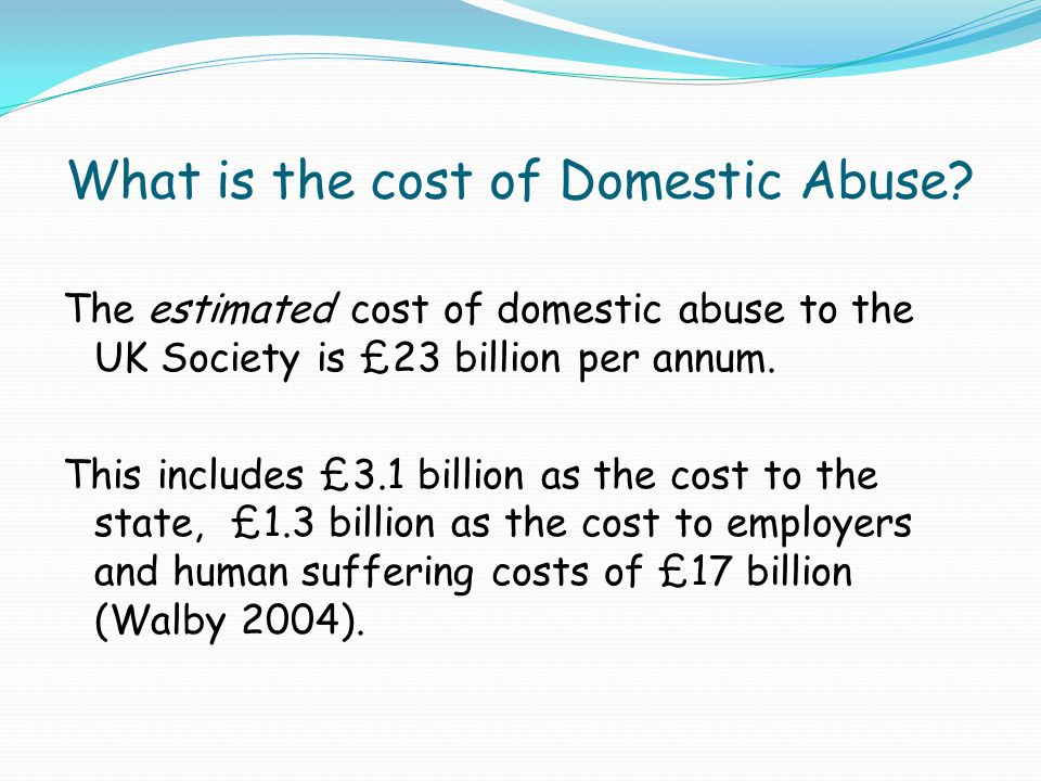 What is the cost of Domestic Abuse
