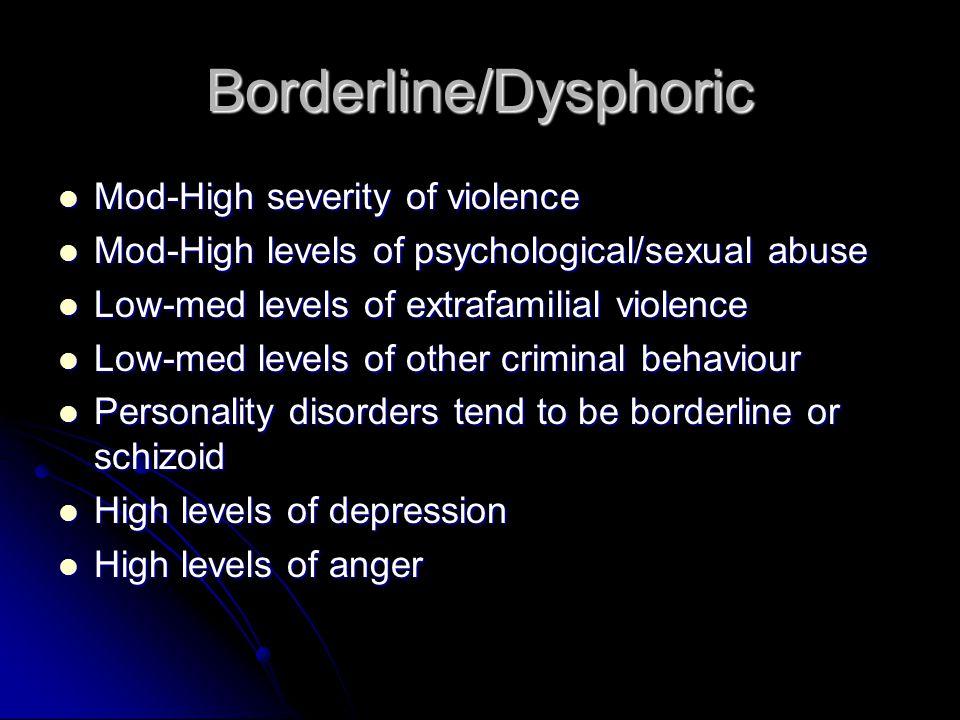 Borderline/Dysphoric