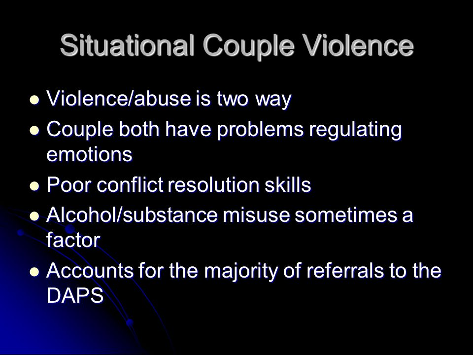 Situational Couple Violence