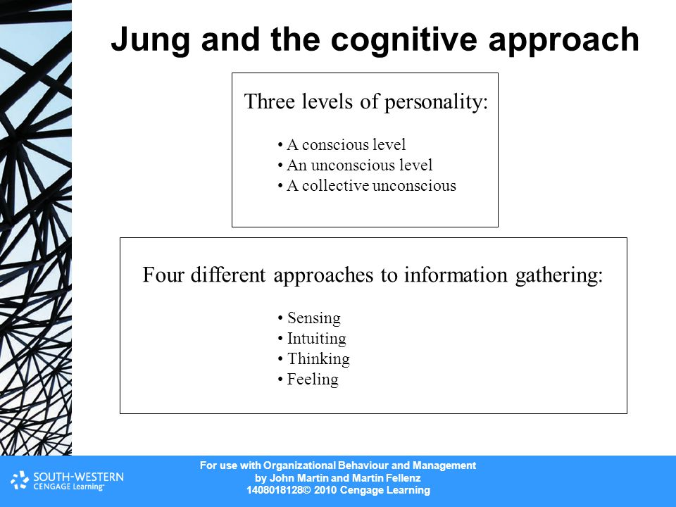 Jung and the cognitive approach