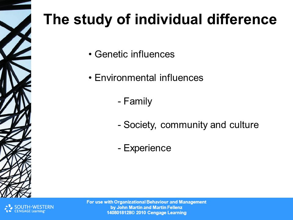The study of individual difference