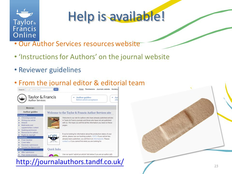 Help is available! Our Author Services resources website