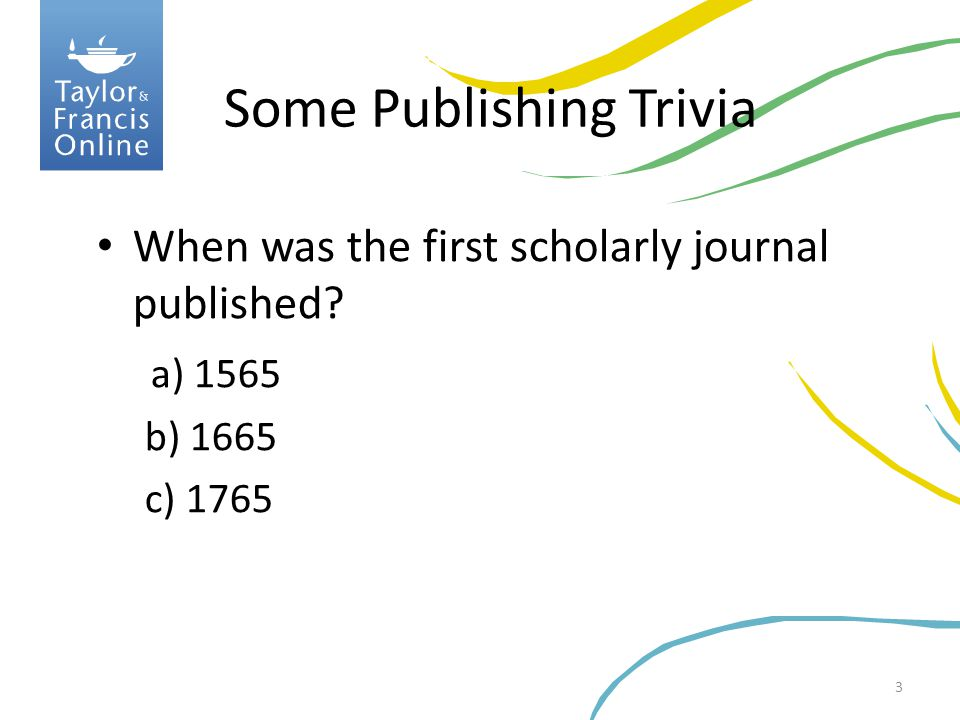 Some Publishing Trivia