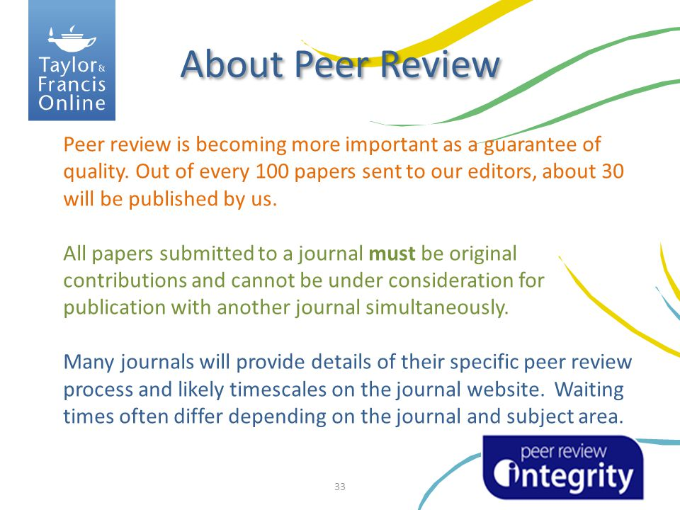 About Peer Review