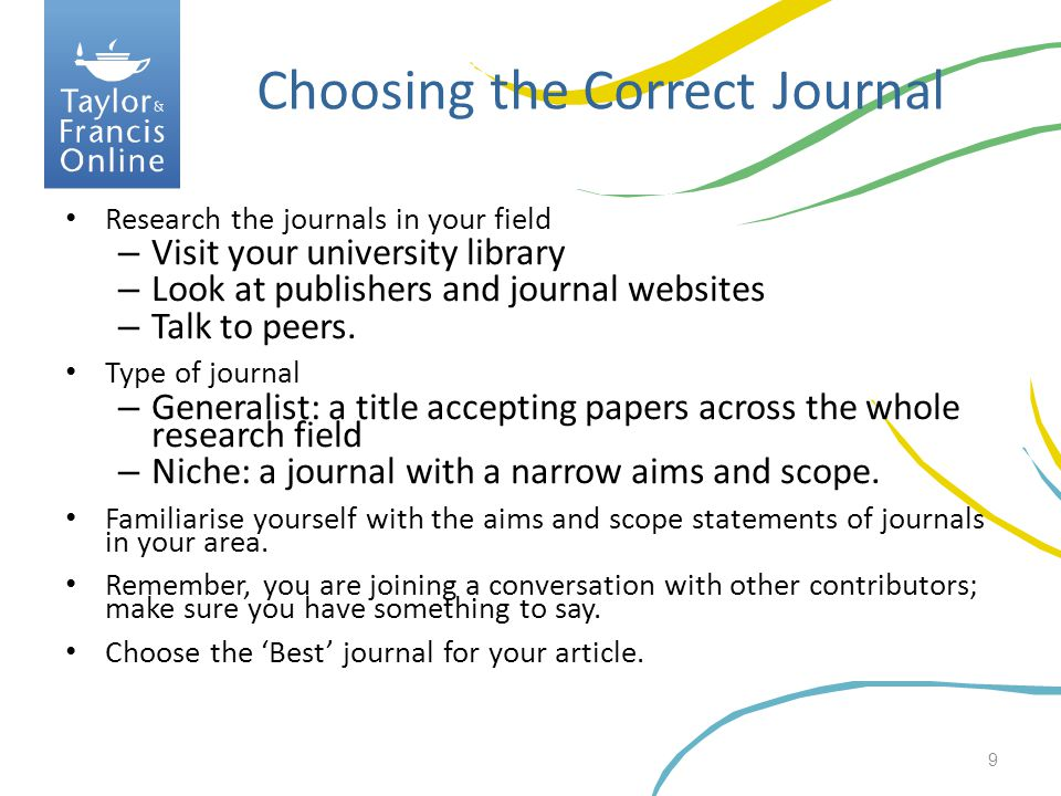 Choosing the Correct Journal
