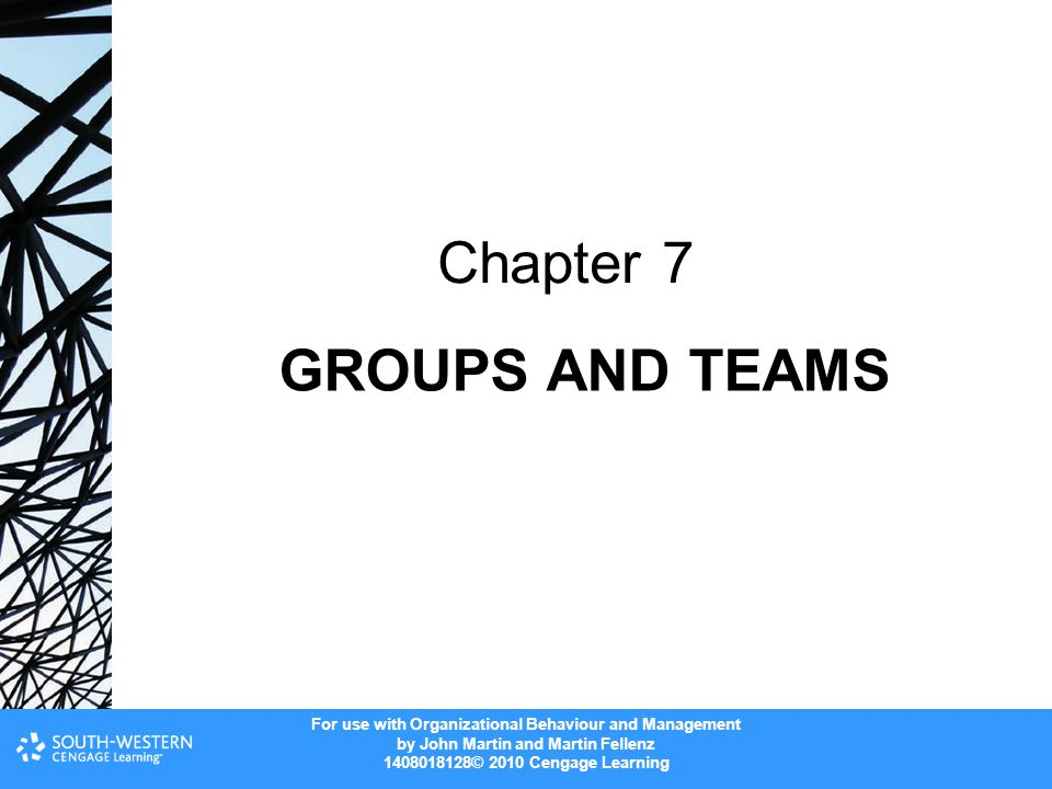 Chapter 7 GROUPS AND TEAMS
