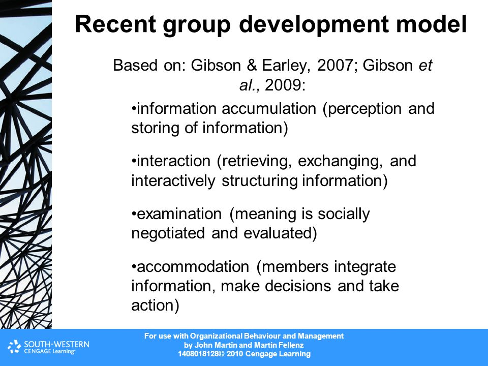 Recent group development model