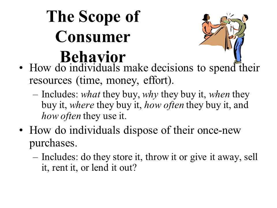 The Scope of Consumer Behavior