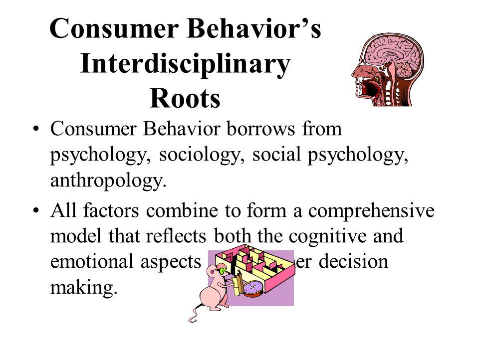 Consumer Behavior's Interdisciplinary Roots